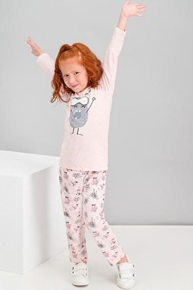 Roly Poly Rolypoly Little Monster Kremmelanj Kız Çocuk Pijama Takımı Pembe
